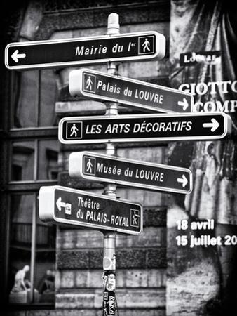 Signpost, the Louvre, Paris, France