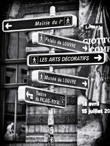 Signpost, the Louvre, Paris, France by Philippe Hugonnard