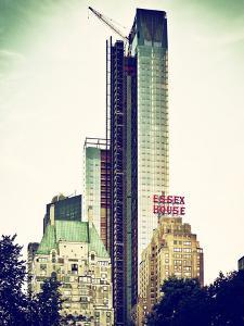 Skyscrapers View, Essex House and New Building at Central Park, New York, Vintage Colors by Philippe Hugonnard