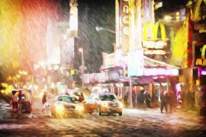 Snow Storm in Manhattan II - In the Style of Oil Painting by Philippe Hugonnard