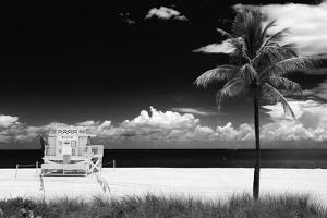 South Miami Beach Landscape with Life Guard Station - Florida by Philippe Hugonnard