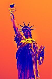 Statue of Liberty - Décorative Art - Orange Vintage - NYC - United States by Philippe Hugonnard