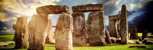 Stonehenge - Abstract of Stones - Wiltshire - UK - England - United Kingdom - Europe by Philippe Hugonnard