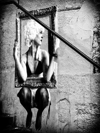 Street Art, Murals Style, French Artist, Paris, France, Black and White Photography by Philippe Hugonnard