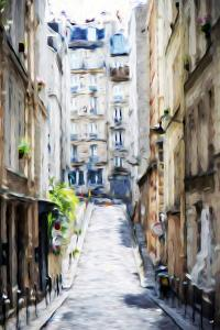 Street Windows - In the Style of Oil Painting by Philippe Hugonnard