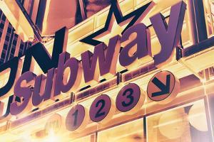 Subway and City Art - Subway Sign by Philippe Hugonnard