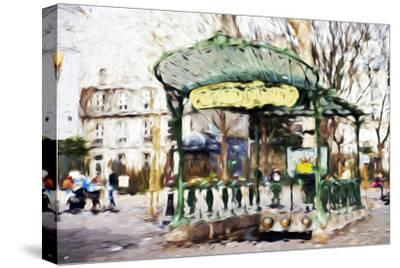 Subway Entrance II - In the Style of Oil Painting