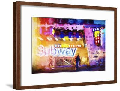 Subway - In the Style of Oil Painting