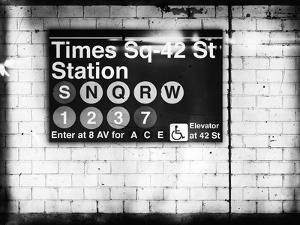 Subway Times Square - 42 Street Station - Subway Sign - Manhattan, New York City, USA by Philippe Hugonnard