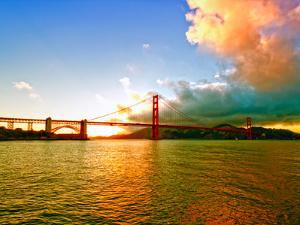 Sunset - Golden Gate Bridge - San Francisco - California - United States by Philippe Hugonnard