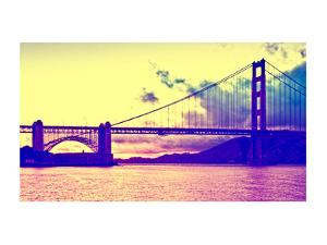 Sunset - Golden Gate Bridge - San Francisco - California - United States by Philippe Hugonnard