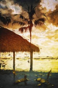 Sunset Hot Sun - In the Style of Oil Painting by Philippe Hugonnard
