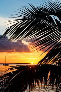 Sunset Landscape with a Yacht - Miami - Florida by Philippe Hugonnard