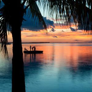Sunset Landscape with Floating Platform - Florida by Philippe Hugonnard