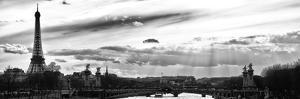 Sunset on the Alexander III Bridge - Eiffel Tower - Paris by Philippe Hugonnard