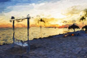 Swinging Chair III - In the Style of Oil Painting by Philippe Hugonnard