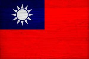 Taiwan Flag Design with Wood Patterning - Flags of the World Series by Philippe Hugonnard