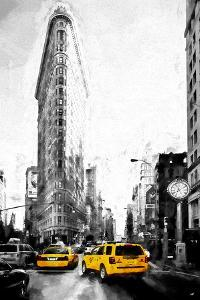 Taxis on Fifth Avenue by Philippe Hugonnard
