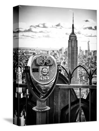 Telescope on the Obervatoire Deck, Top on the Rock at Rockefeller Center, Manhattan, New York
