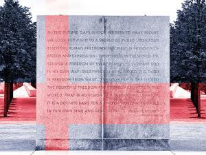 Text of FDR's Four Freedoms Speech, Memorial to the President, Manhattan, New York by Philippe Hugonnard