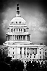 The Capitol Building, US Congress, Washington D.C, District of Columbia, White Frame by Philippe Hugonnard