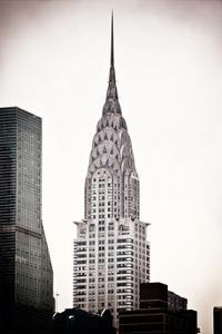 The Chrysler Building, Art Deco Style Skyscraper in NYC, Turtle Bay, Manhattan, US, White Frame by Philippe Hugonnard