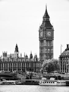 The Houses of Parliament and Big Ben - Hungerford Bridge and River Thames - City of London - UK by Philippe Hugonnard