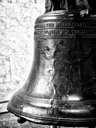 The Liberty Bell, Philadelphia, Pennsylvania, United States, Black and White Photography by Philippe Hugonnard
