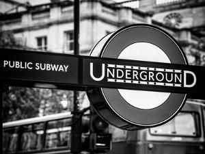 The London Underground Sign - Public Subway - UK - England - United Kingdom - Europe by Philippe Hugonnard