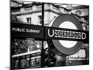 The London Underground Sign - Public Subway - UK - England - United Kingdom - Europe by Philippe Hugonnard