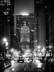 The Metlife Building Towers over Grand Central Terminal by Night by Philippe Hugonnard