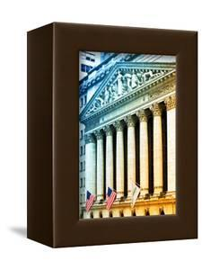 The New York Stock Exchange Building, Wall Street, Manhattan, NYC, White Frame, Colors Photography by Philippe Hugonnard