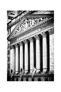 The New York Stock Exchange Building, Wall Street, Manhattan, NYC, White Frame by Philippe Hugonnard