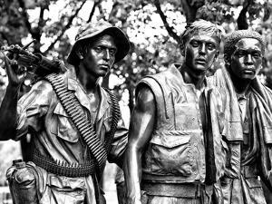 """""""The Three Soldiers"""" Bronze by Frederik Hart at the Vietnam Memorial, Washington D.C by Philippe Hugonnard"""