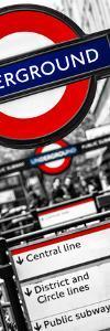The Underground - Subway Station Sign - London - UK - England - United Kingdom - Door Poster by Philippe Hugonnard