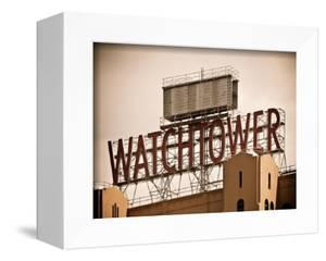 The Watchtower, Jehovah's Witnesses, Brooklyn, Manhattan, New York, White Frame, Vintage by Philippe Hugonnard