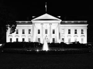 The White House by Night, Official Residence of the President of the US, Washington D.C by Philippe Hugonnard