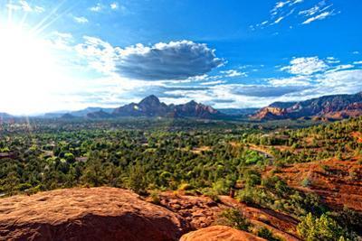 Thunder Mountains - Sunset - Sedona - Arizona - United States by Philippe Hugonnard