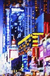 Times Square Night - In the Style of Oil Painting by Philippe Hugonnard