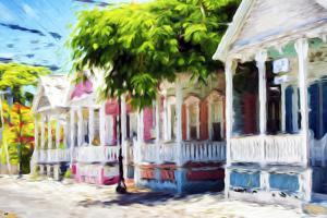 Tobaco Houses - In the Style of Oil Painting by Philippe Hugonnard