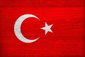 Turkey Flag Design with Wood Patterning - Flags of the World Series by Philippe Hugonnard