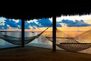 Two Hammocks at Sunset - View of Gulf of Mexico - Florida - USA by Philippe Hugonnard