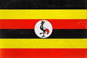 Uganda Flag Design with Wood Patterning - Flags of the World Series by Philippe Hugonnard