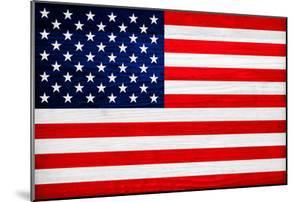 United States of America Flag Design with Wood Patterning - Flags of the World Series by Philippe Hugonnard