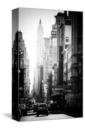 Urban Scene, 401 Broadway, Soho, Manhattan, NYC, White Frame, Old Black and White Photography