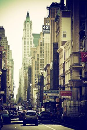 Urban Scene, 401 Broadway, Soho, Manhattan, NYC, White Frame