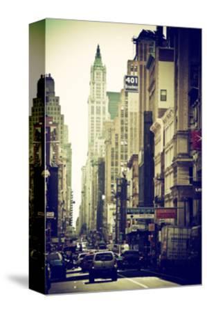Urban Scene, 401 Broadway, Soho, Manhattan, NYC, White Frame