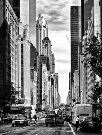 Urban Scene, Architecture and Buildings, Midtown Manhattan, NYC, USA, Black and White Photography by Philippe Hugonnard