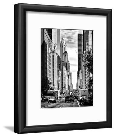 Urban Scene, Architecture and Buildings, Midtown Manhattan, NYC, USA, Black and White Photography