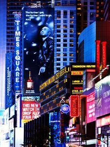 Urban Scene at Times Square NYC by Night, Manhattan, New York, United States by Philippe Hugonnard